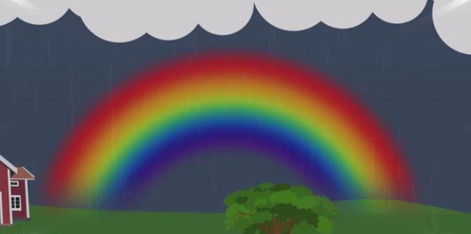 hur många färger har regnbågen
