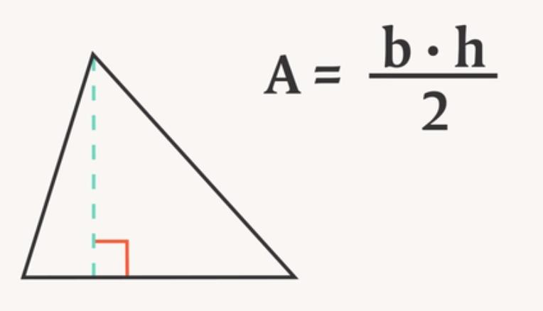 hur räknar man ut arean på en triangel